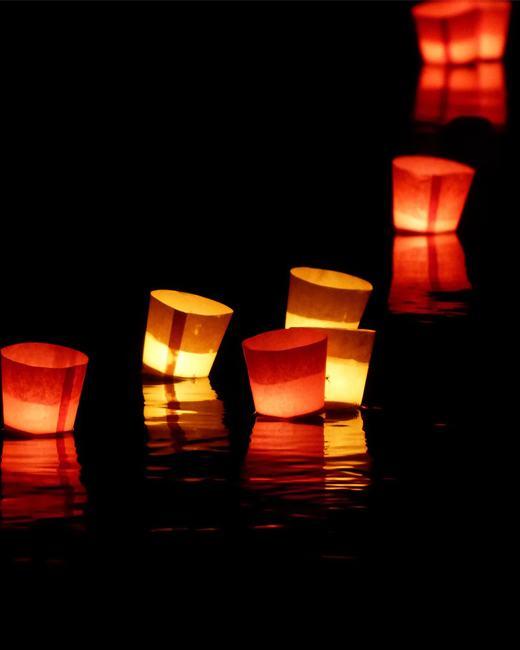 Shwe Kyin Floating Light Festival