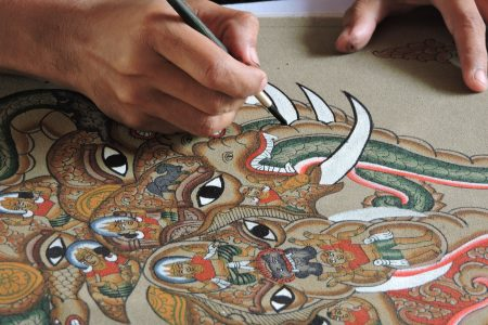 MYANMAR – Bagan – Discover the art of Sand painting