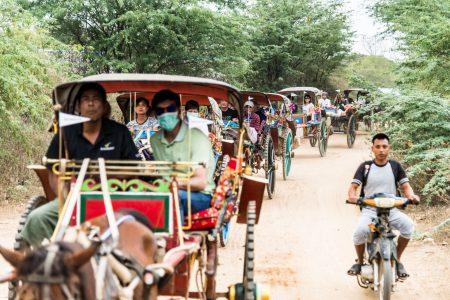 MYANMAR – Bagan – Horse Cart Ride